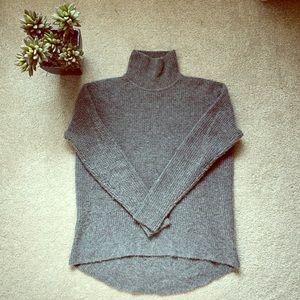 Turtleneck sweater in waffle knit.